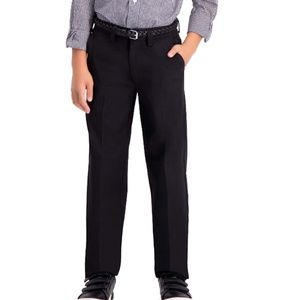 Haggar Black Boys Dress Pants Sz 14